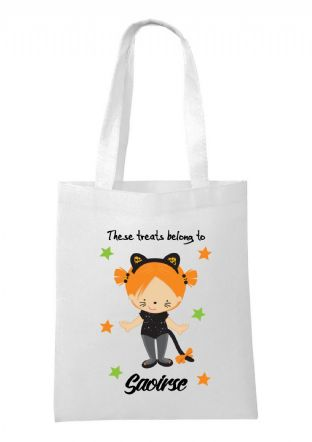 Halloween Girl Cat Bag
